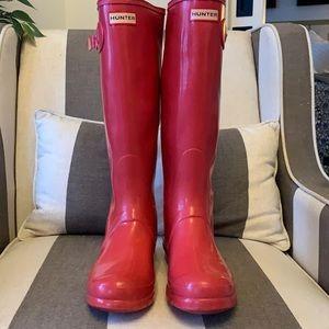 Hunter red Wellies - rain boots - wellingtons